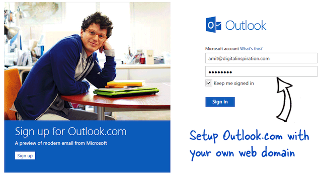 How to use Outlook.com with your domain