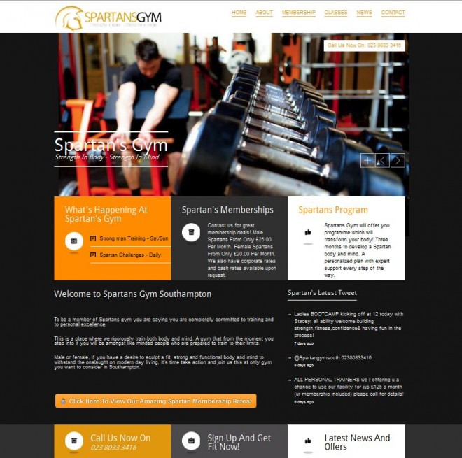 spartansgym-website